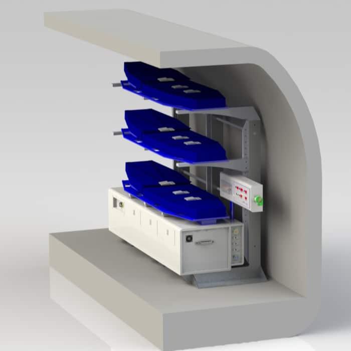 Aero Medical Stackable Stretcher Unit